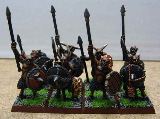 Warhammer Beastmen Ungor with spears