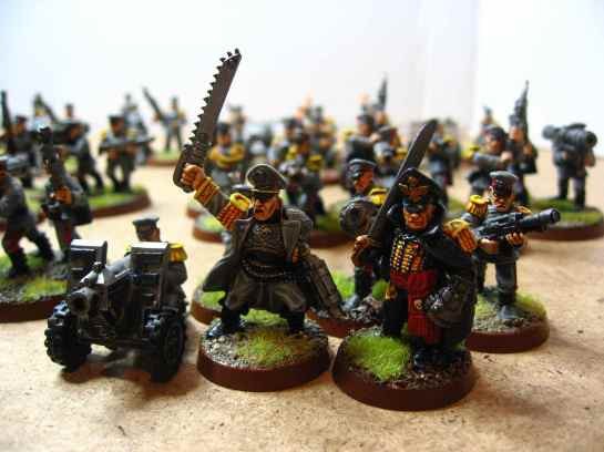 Mordian Command Squad with Commissar