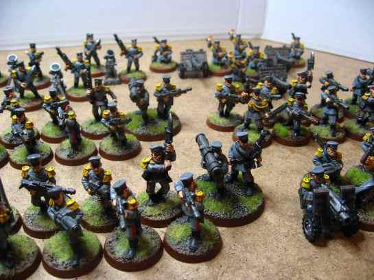 Warhammer 40k Mordian Iron Guard platoon