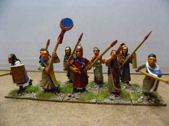 Hittite warriors with spears