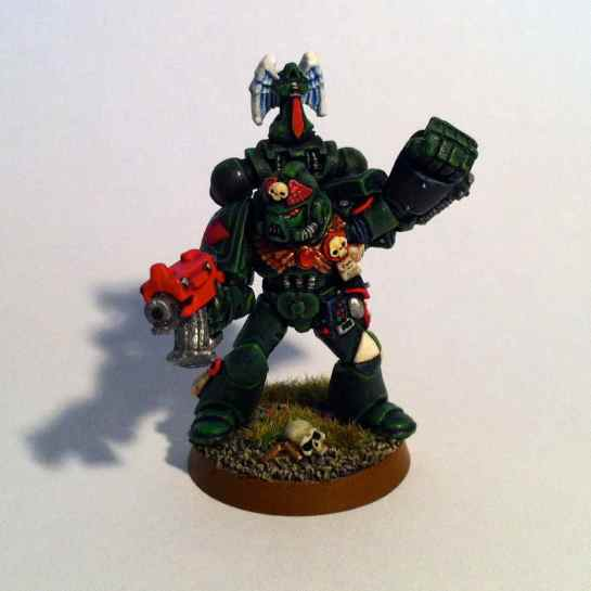 Dark Angels Sergeant with power fist