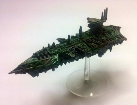 Nurgle Chaos Cruiser for Battlefleet Gothic