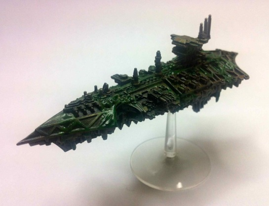 Nurgle Chaos Cruiser for Battlefleet Gothic
