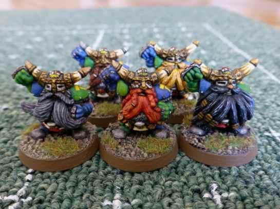 Blood Bowl Dwarf Blockers