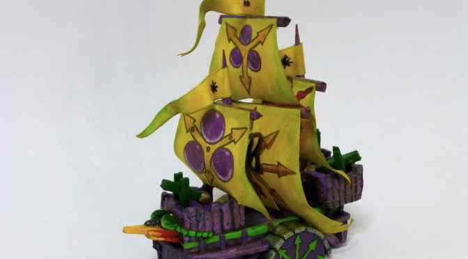 Scratch-built Plagueship of Nurgle