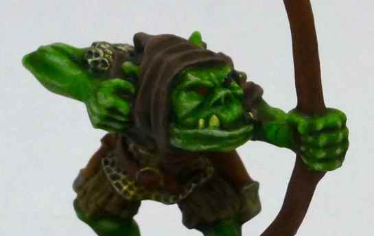 Oldhammer Orc Arrer Boy re-paint close-up