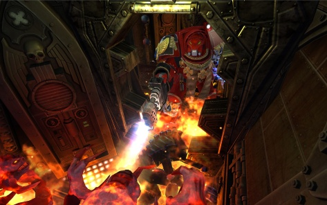Terminator with heavy flamer in Space Hulk