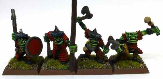 Oldhammer Orc command group by Marauder Miniatures