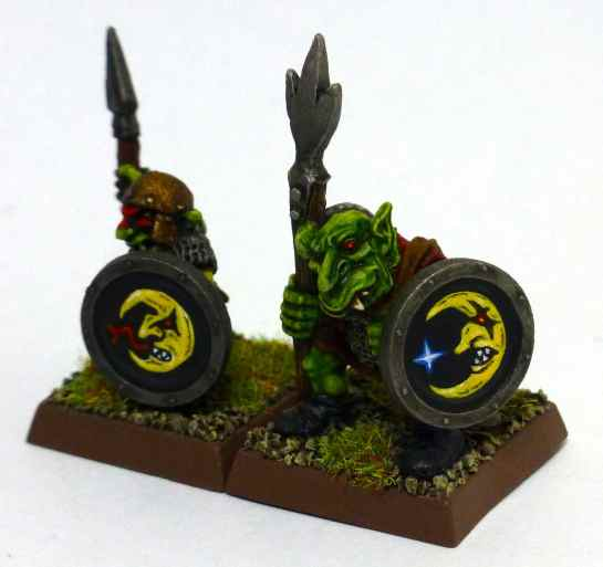 Oldhammer Goblins with spears and shields