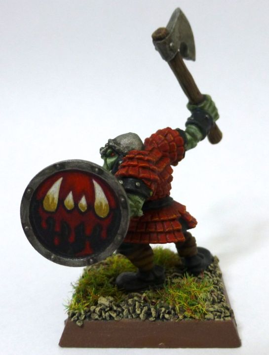 Oldhammer Orc with shield by Marauder Miniatures