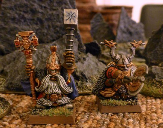 Warhammer Dwarf Runesmith and Lord