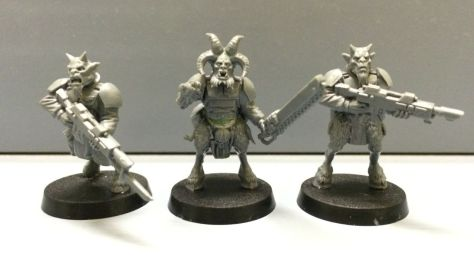Warhammer 40k Imperial Guard Beastmen - front view