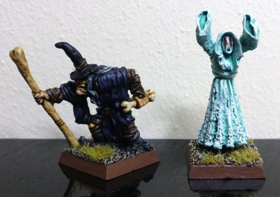 Warhammer Necromancer and Spectre for Oldhammer - front