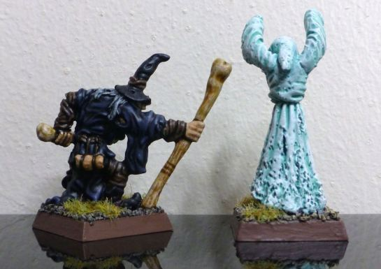 Warhammer Necromancer and Spectre for Oldhammer - back