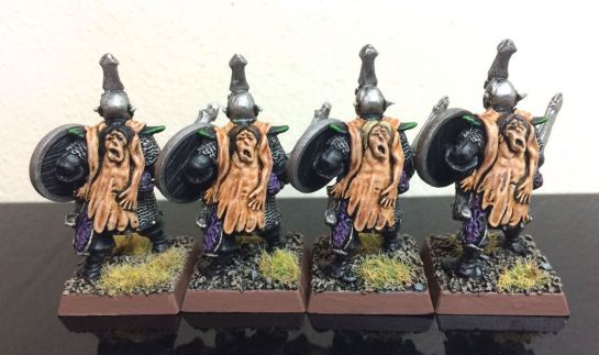 Warhammer Mengil Manhide's Dark Elf Warriors for Oldhammer - back