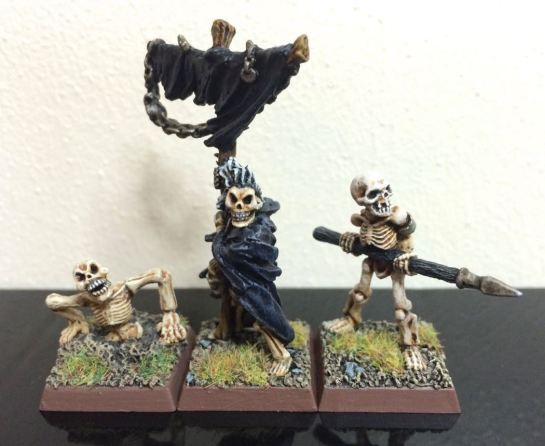 Warhammer Undead Skeletons with Standard Bearer for Oldhammer