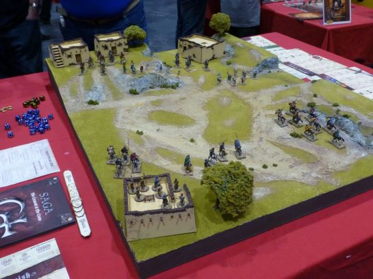 Games table for Saga: The Crescent and the Cross at Salute 2015