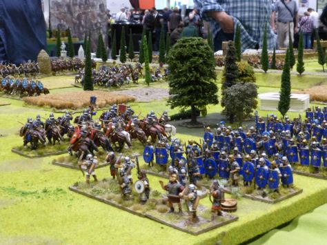 Roman legionnaires in formation at Cremona