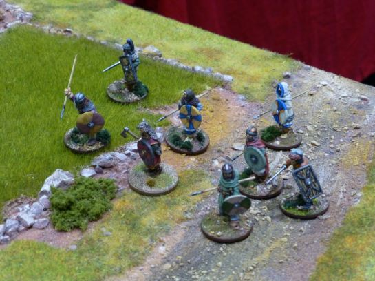 Dark Age warriors for Saga at Salute 2015