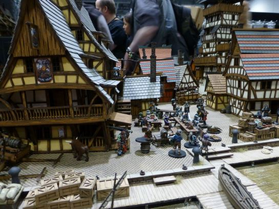 Medieval inn and market square by 4Ground at Salute 2015
