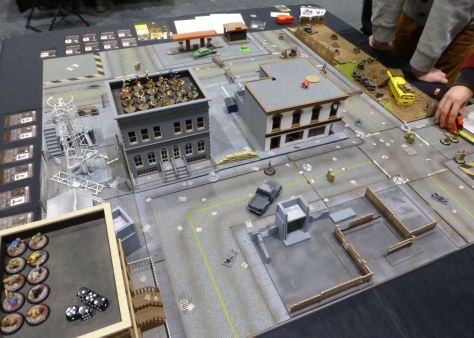 An urban setting for a zombie apocalypse game