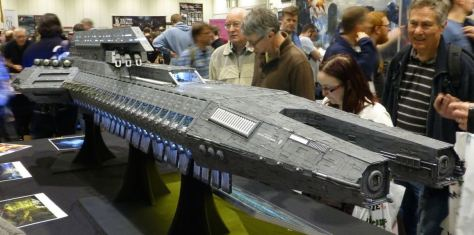 Model of an orbital dropship for Dropzone Commander
