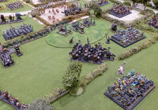 Large units of Goblins march in support of the Chaos forces