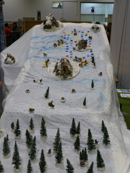 Terrain depicting a snow covered mountain slope