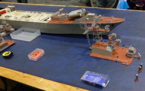 Model of a Russian frigate