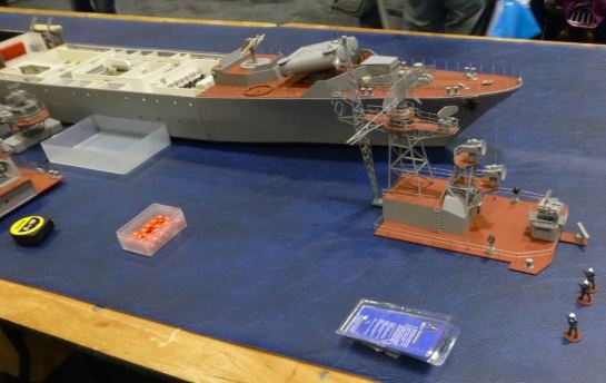 Model of a Russian frigate