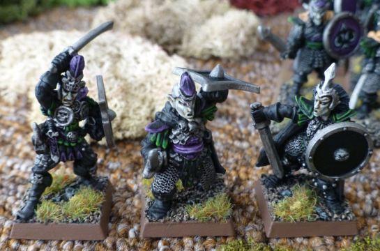 Three Warhammer Dark Elf Warriors for Oldhammer