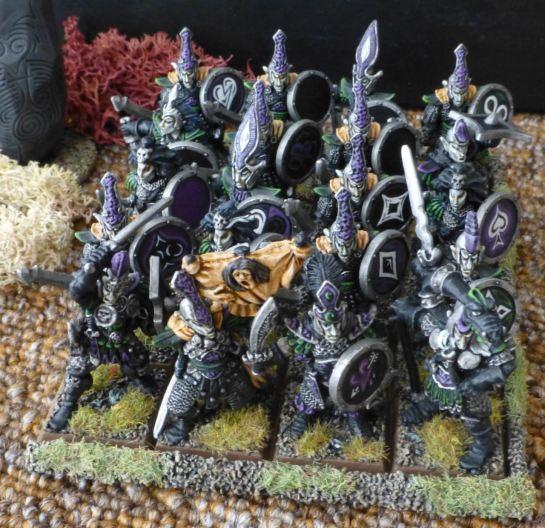 Regiment of Warhammer Dark Elf Warriors for Oldhammer