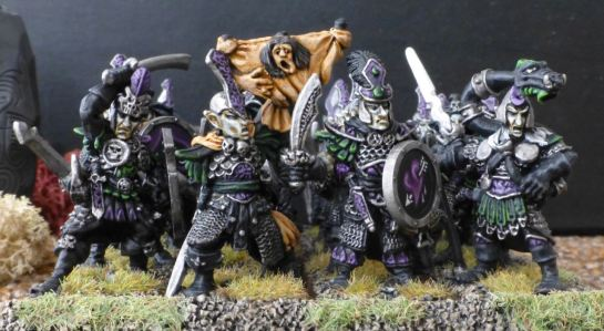 Front rank Warhammer Dark Elf Warriors for Oldhammer