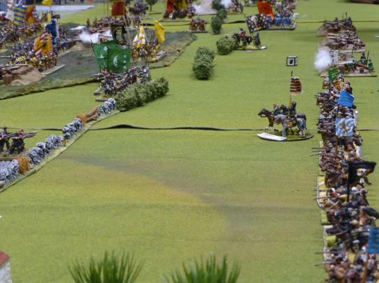 Armies facing off