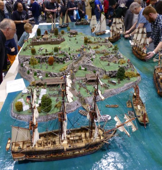 Gaming table for The Fort at Salute 2015