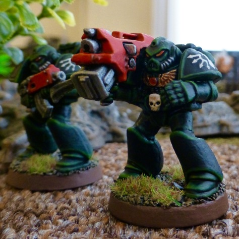 Dark Angels Space Marines Devastator with heavy bolter