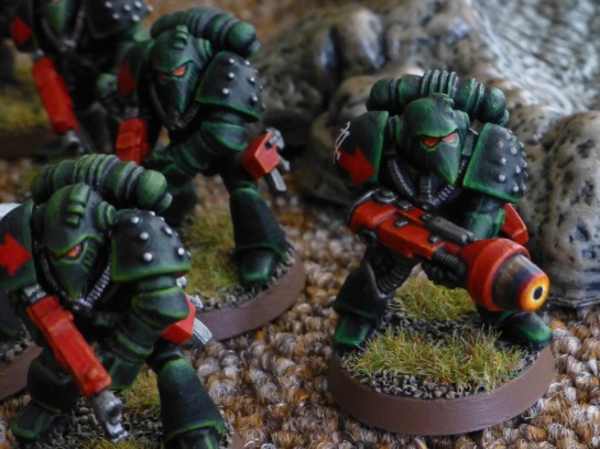 Dark Angels Space Marine with plasma gun