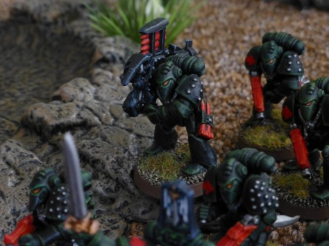 Dark Angels Space Marine with missile launcher