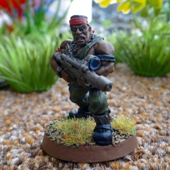 Imperial Guard Catachan Jungle Fighter with scoped lasgun