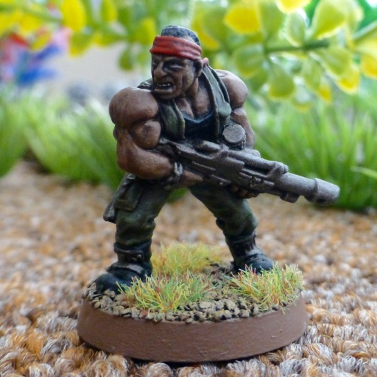 Imperial Guard Catachan Jungle Fighter with lasgun