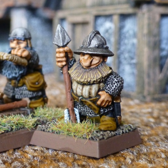 Dwarf loader standing by with spear projectile