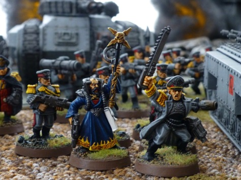 Command squad with a Captain and a Psyker