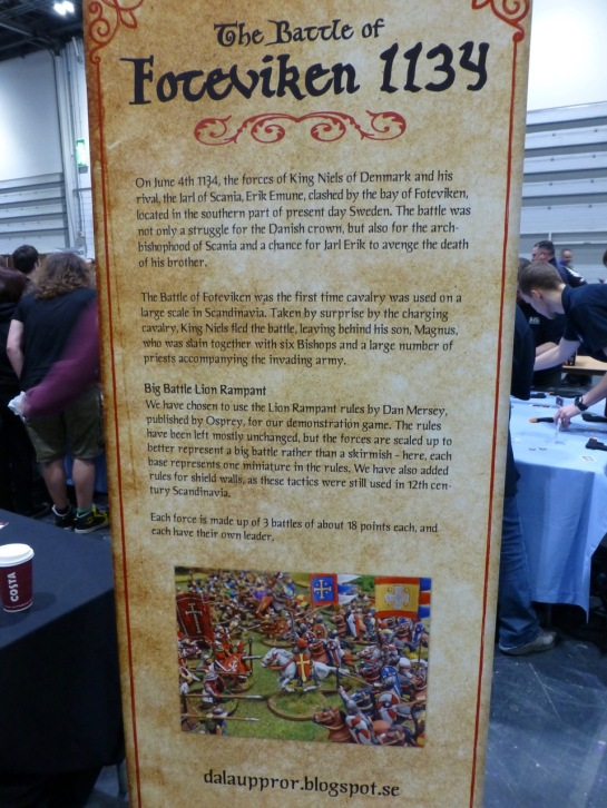 Standee explaining historical background and rules used for the game