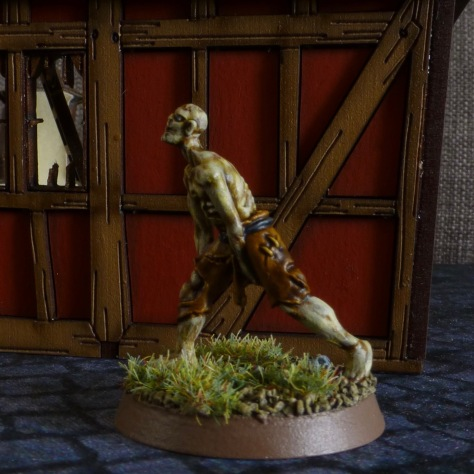 Figure of a zombie in a low lurching gait