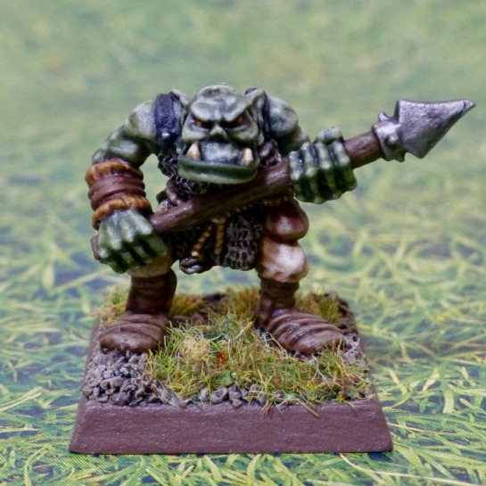 Orc holding a spear projectile