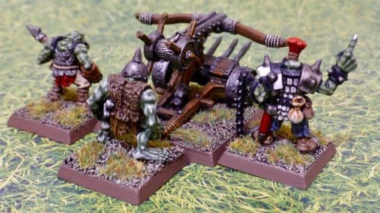 Rear view of bolt thrower and crew