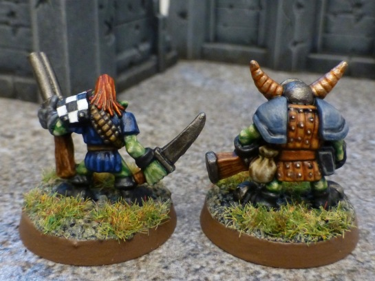 Back view of two Gretchin