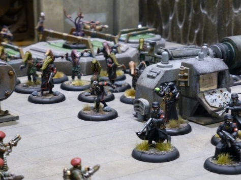 Pulp World War 2 soldiers and monsters