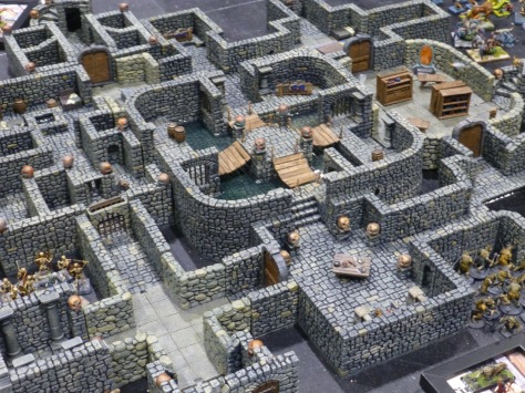 Large stone walled dungeon