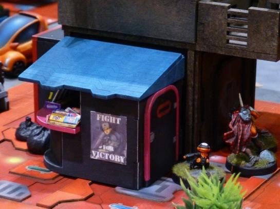 A small news kiosk